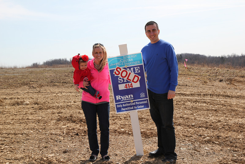 Ryan Homes Sold Sign