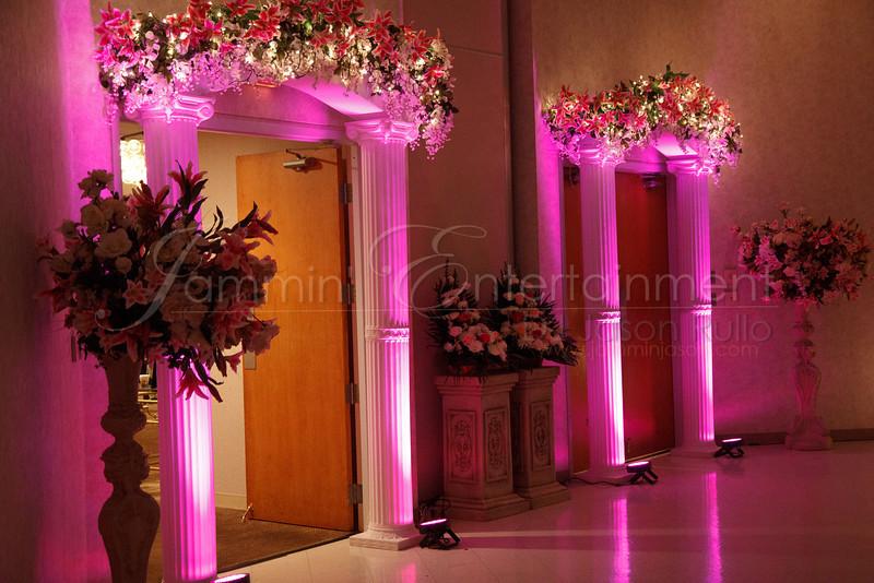 Pink Uplighting
