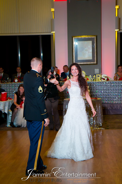 DJ Jason Rullo-Stephen and Brittny first dance